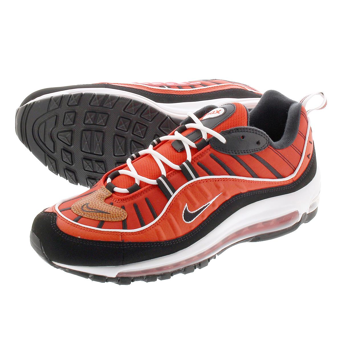 640744 604 Nike Air Max 98 Habanero Rot Schwarz