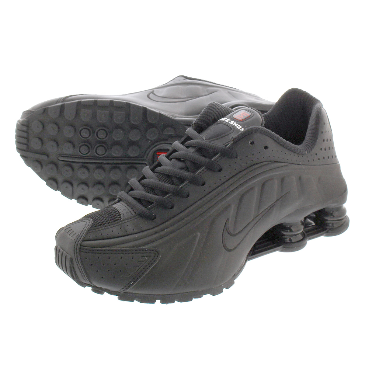 new arrival c1640 9b23f NIKE SHOX R4 Nike shocks R4 BLACK/BLACK/BLACK/MAX ORANGE ar3565-004