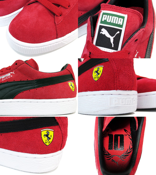 Puma Suede Ferrari 10 Års Jubileumsutgaven SVXGEl5