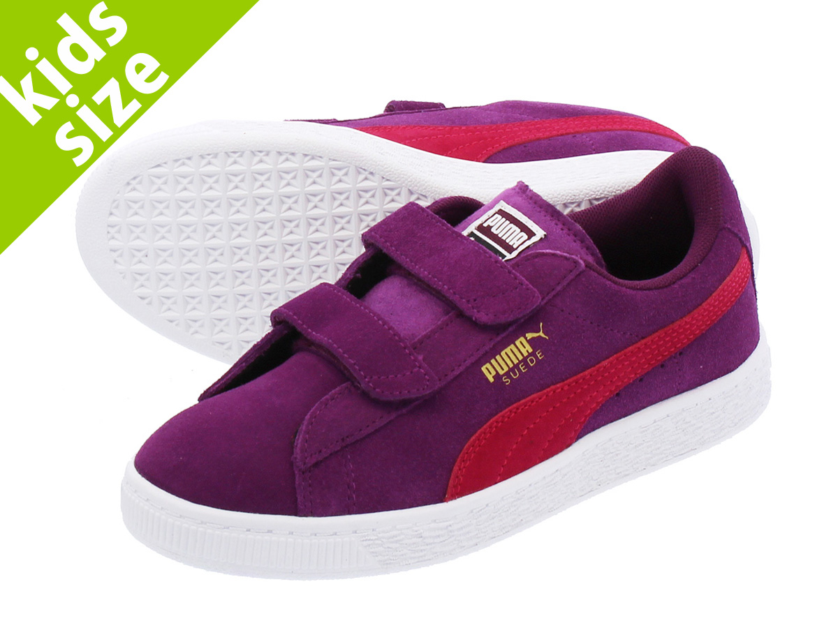 05bebdcadb70 LOWTEX PLUS  PUMA SUEDE 2 STRAP PS Puma suede cloth 2 strap PS DARK PURPLE