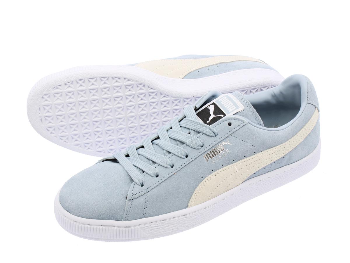 41e45342ea322d PUMA SUEDE CLASSIC + Puma suede cloth classical music plus BLUE FOG WHITE