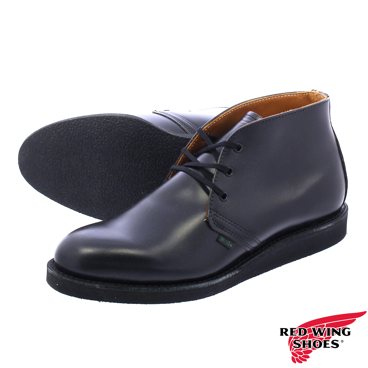 RED WING 9196 POSTMAN BOOT CHUKKA 【MADE IN U.S.A.】 レッドウイング ポストマン ブーツ チャッカ BLACK 【Dワイズ】