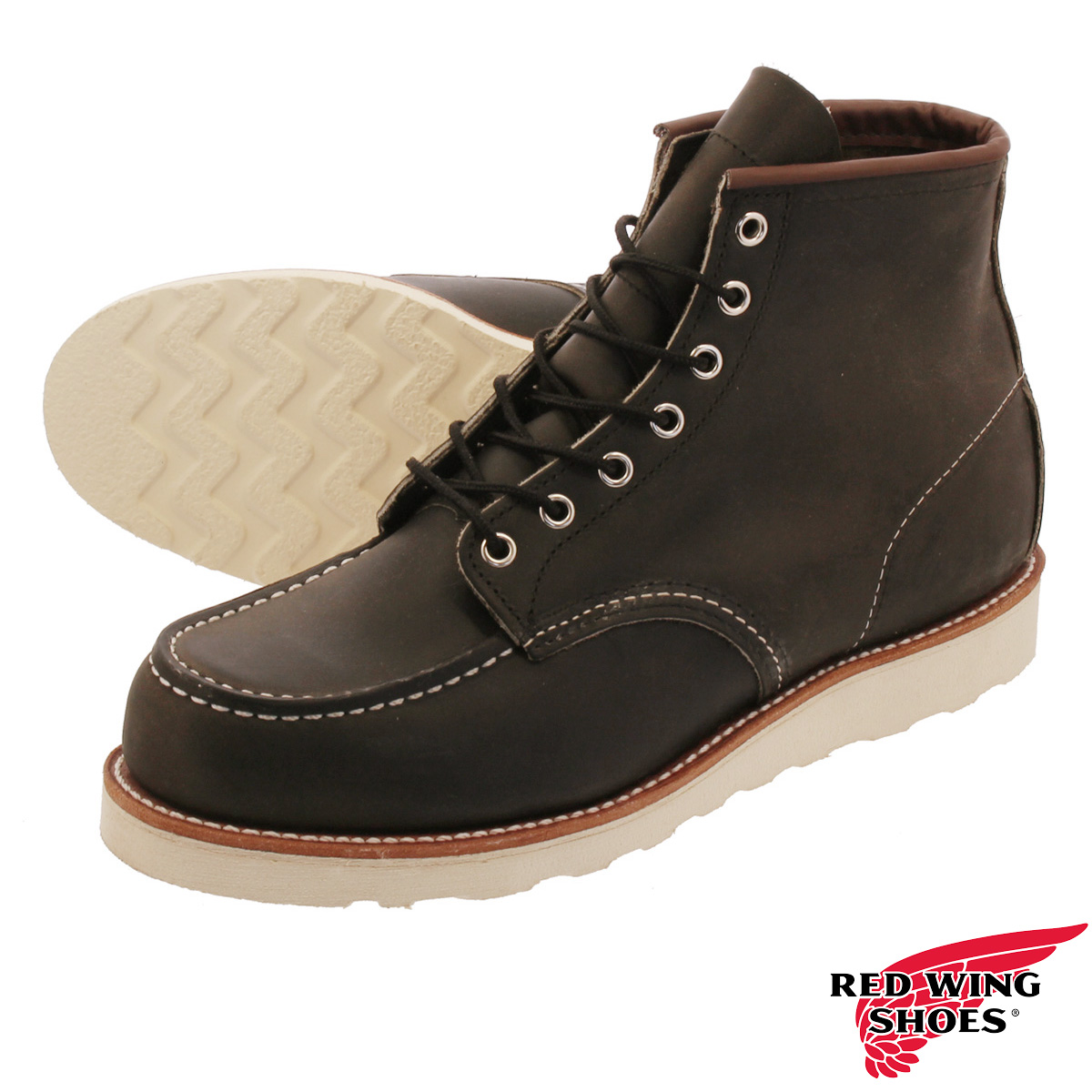 RED WING 6inch CLASSIC MOC TOE 【Dワイズ】 レッドウィング 6インチ クラシック モック トゥ CHARCOAL ROUGH rw-8890