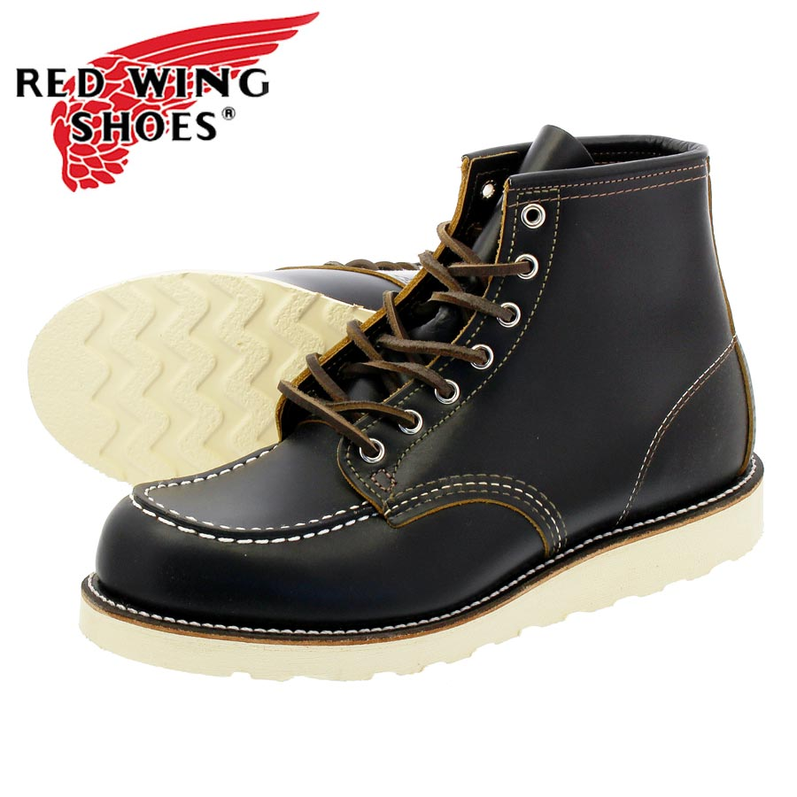 ef8b4a73bd4 RED WING IRISH SETTER 6inch CLASSIC MOC TOE red wing Irish setter BLACK  KLONDIKE