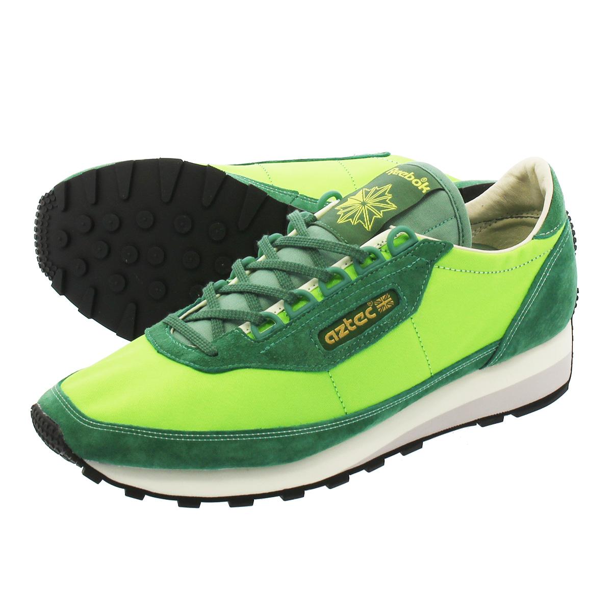a8e0bcabb1d057 Reebok AZTEC ANTQ RUNNER Reebok as technical center ANTQ runner  GREEN WHITE GREY GOLD BLACK