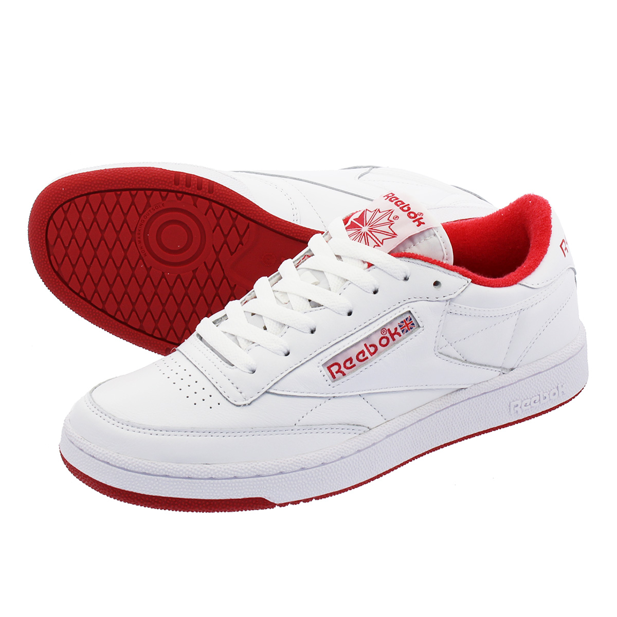 Reebok CLUB C 85 ARCHIVE リーボック クラブ C 85 ARCHIVE WHITE/EXCELLENT RED cn3711