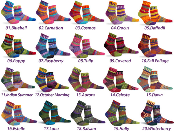 SOLMATE MISMATCHED SOCKS ADULTCOTTON ソルメイト adult socks all 12 types