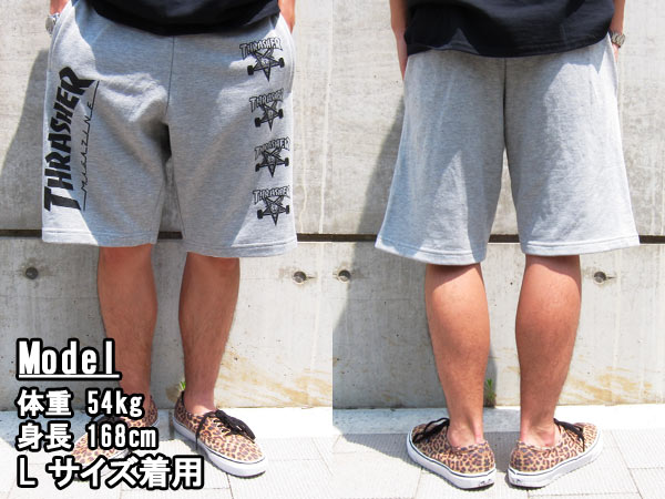 THRASHER SWEAT SHORTS surasshasuuettoshotsu GREY