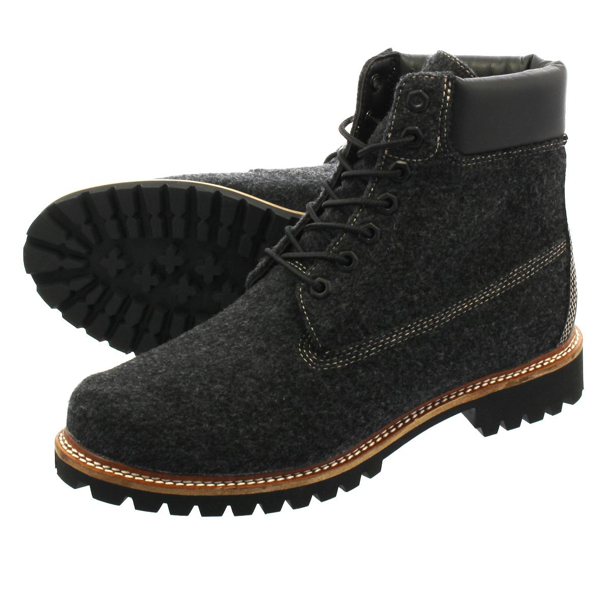 TIMBERLAND 6inch LTD WOOL BOOTS ティンバーランド 6インチ リミテッド ウール ブーツ CHARCOAL/DARK GREY a1u6z