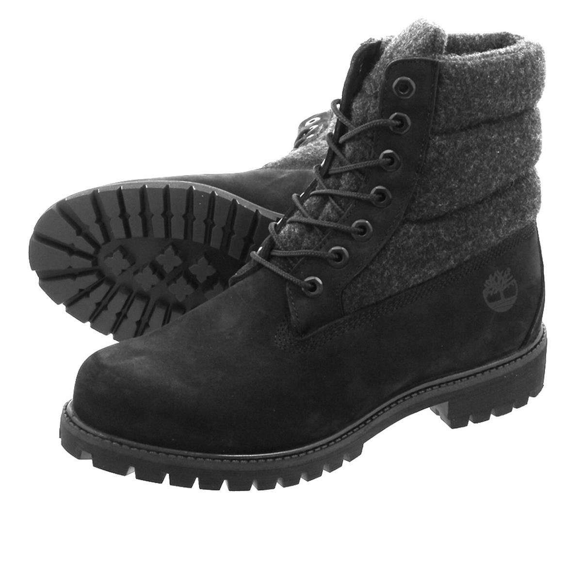TIMBERLAND 6inch PREMIUM PUFFER BOOTS ティンバーランド 6インチ プレミアム ブーツ BLACK NUBACK a1zr6
