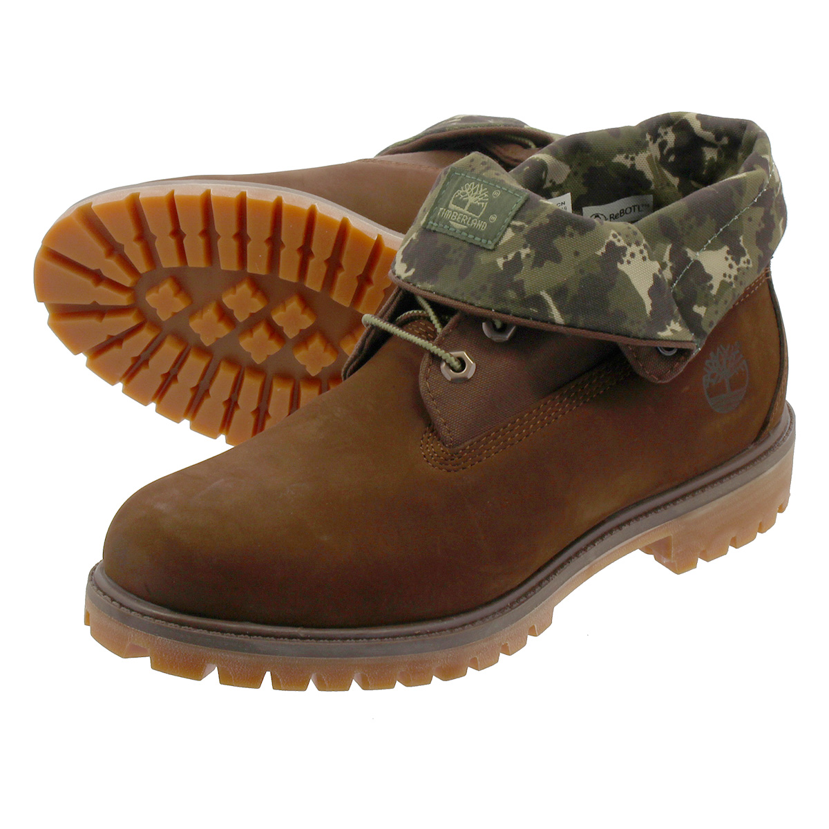 TIMBERLAND ROLL TOP BOOT ティンバーランド ロール トップ ブーツ POTTING SOIL/GREEN CAMO a21ap