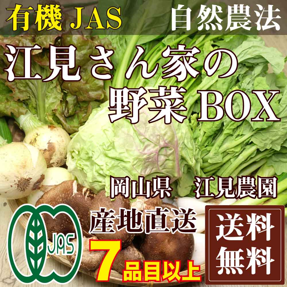 [cool delivery service for free] vegetables BOX nature agricultural methods  existence machine JAS (Emi, Okayama farm) of the Emis is direct from the