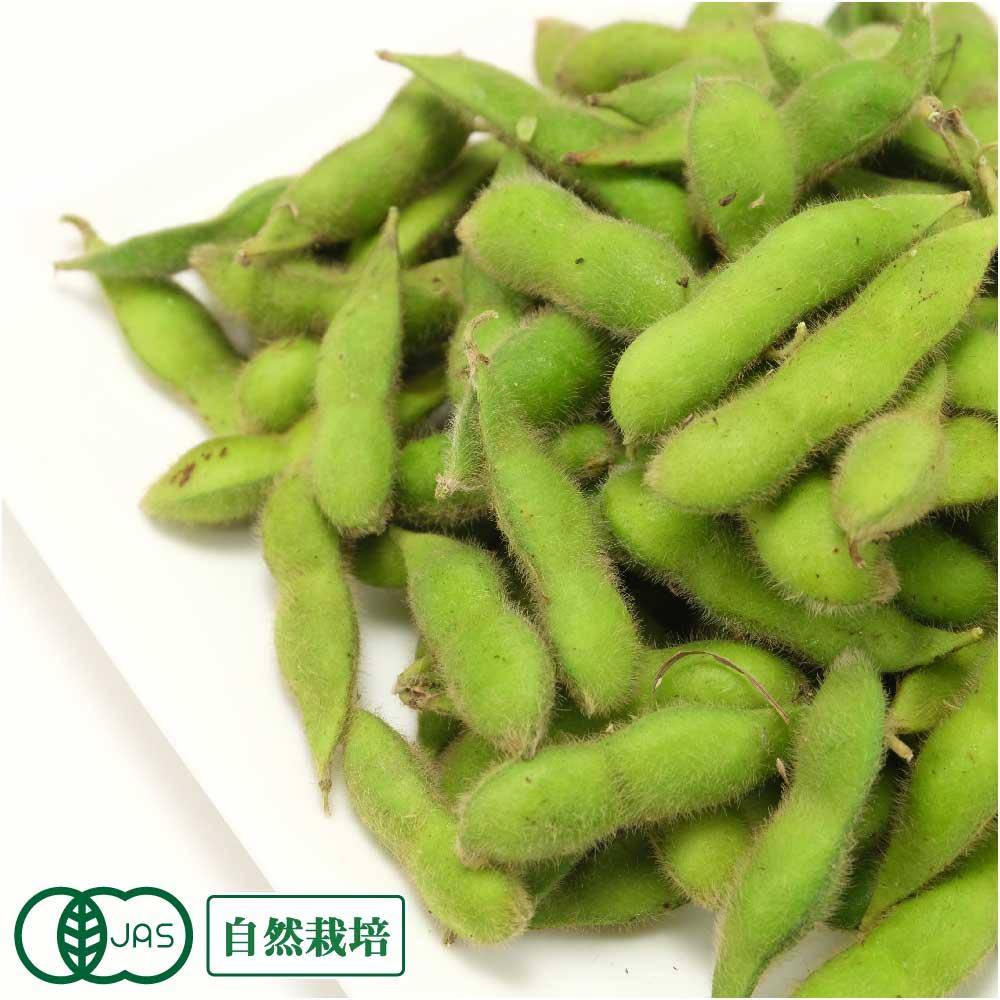 【予約商品・クール便】有機 枝豆 バラ詰 10kg 有機JAS 自然栽培 (青森県 SKOS合同会社) 産地直送