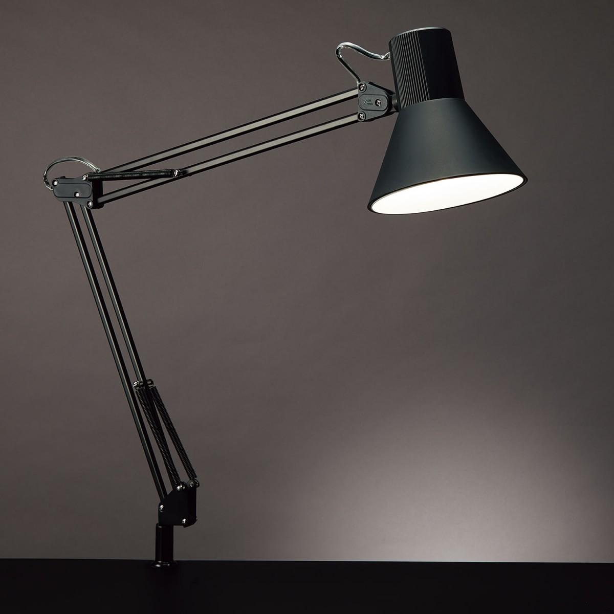 山田照明 通販 LEDデスクライトZ-108NBブラック5000K昼白色コード長さ:1.9m セード部シーソースイッチクランプタイプ白熱60W相当Zライト 新品 送料無料 Z-Light ゼットライト Z108NB