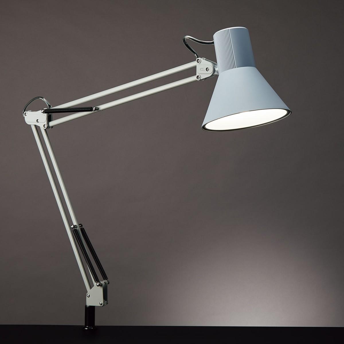 山田照明 信用 LEDデスクライトZ-108NGYグレー5000K昼白色コード長さ:1.9m セード部シーソースイッチクランプタイプ白熱60W相当Zライト Z-Light ゼットライト 春の新作 Z108NGY