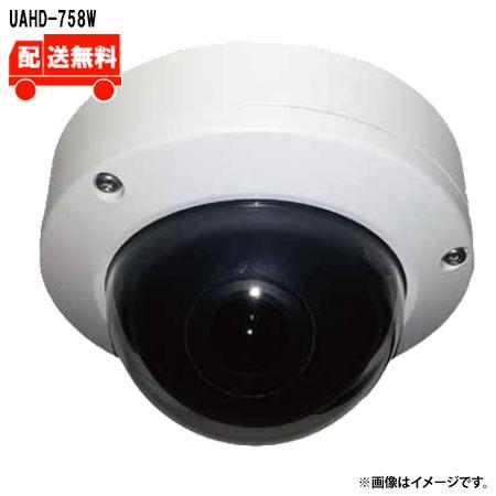 [送料無料]ユニモテクノロジー AHD2.0 180°パノラマドームカメラ  UAHD-758W