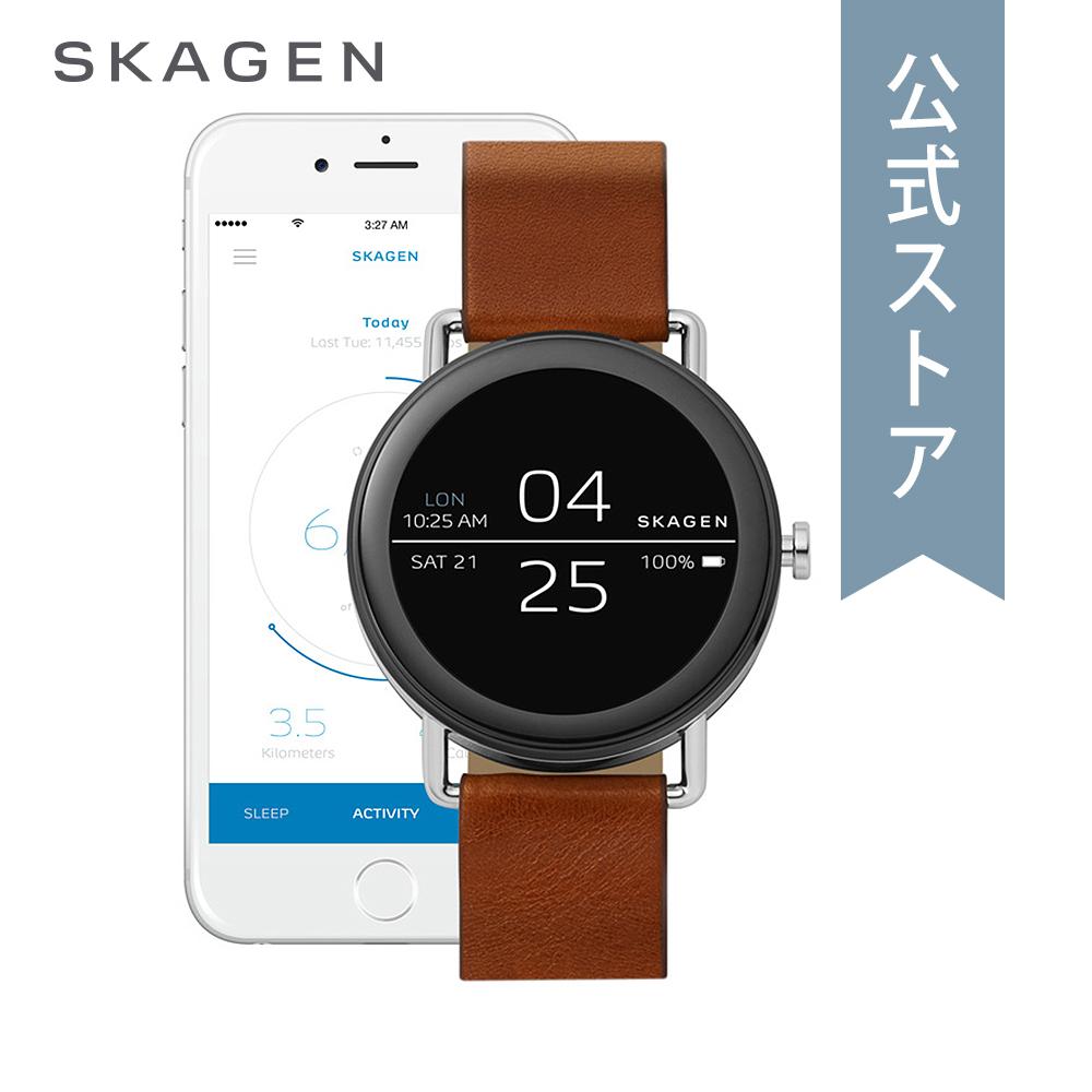 <10%OFFクーポン配布中/27日まで>『父の日 公式ショッパープレゼント』30%OFF スカーゲン タッチスクリーン スマートウォッチ 公式 2年 保証 Skagen iphone android 対応 ウェアラブル Smartwatch 腕時計 レディース メンズ  SKT5003 FALSTER1