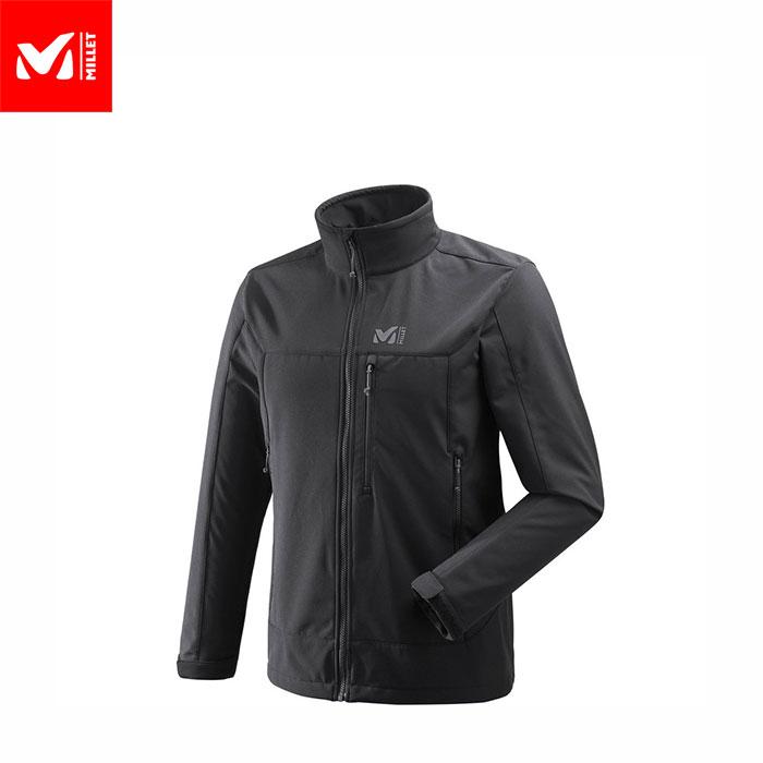 MILLET ミレー TRACK JKT M 防風性 ソフトシェル ジャケット メンズ (BLACK-NOIR):MIV7979