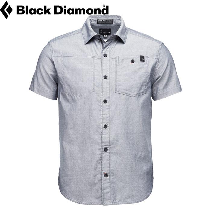 クーポン利用で10%OFF!12/26AMまで!BLACKDIAMOND Ms S/S ソリューション シャツ メンス゛ ゛ホ゛タンシャツ ライフスタイル (エクリプス-ホワイト):BD67087