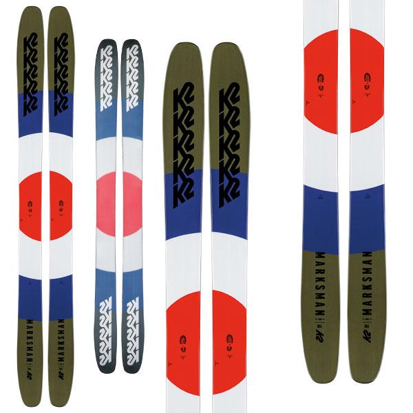 19-20 NEWモデル 新作 パウダー スキー スーパーセール限定価格!K2 ケーツー 19-20 スキー MARKSMAN マークスマン(板のみ) スキー板 2020 パウダー ロッカー: [34SSスキー]