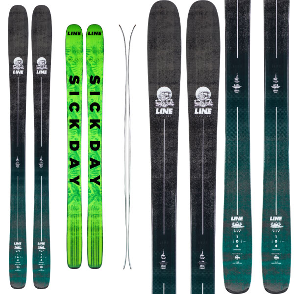 LINE ライン 19-20 スキー SICK DAY 104 シックデイ104 (板のみ) スキー板 2020 パウダー ロッカー (onecolor):