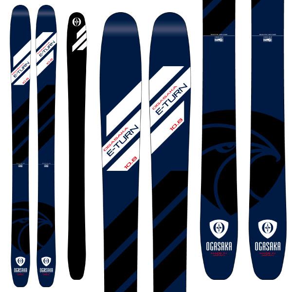 OGASAKA オガサカ 19-20 スキー 2020 ET-10.8 イーターン (板のみ) スキー板 パウダー ロッカー (onecolor):