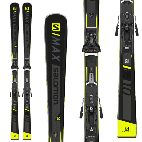 SALOMON サロモン 19-20 スキー 2020 S/MAX 10 エスマックス (金具付き) スキー板 デモ オールラウンド (onecolor):