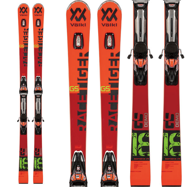VOLKL フォルクル 19-20 スキー 2020 RACETIGER レースタイガー GS DEMO (金具付き) スキー板 レーシング デモ ロング (onecolor):