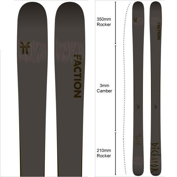 FACTION ファクション 19-20 スキー 2020 DICTATOR 2.0 ディクテーター 2.0 (板のみ) スキー板 オールマウンテン: