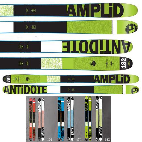 15-16AMPLID スキー板 アンプリッド Ski 2016THE ANTIDOTE  (板のみ) フリースタイルスキー