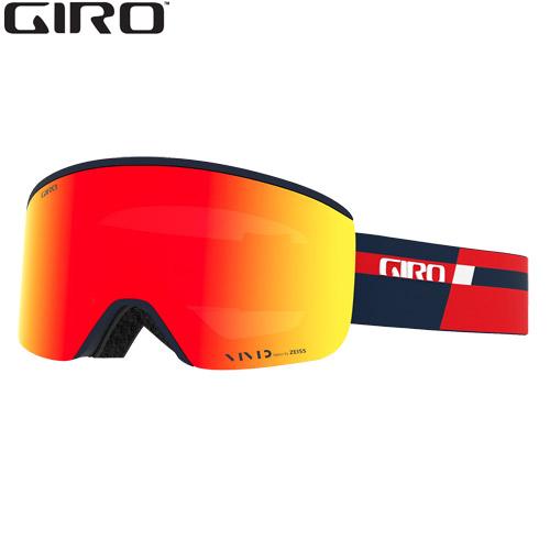 素早いレンズ交換が特徴 GIRO 安全 信憑 ジロ 20-21 AXIS Red Midnight スペアレンズ SKIAC Podium スキー スノーボード 2021