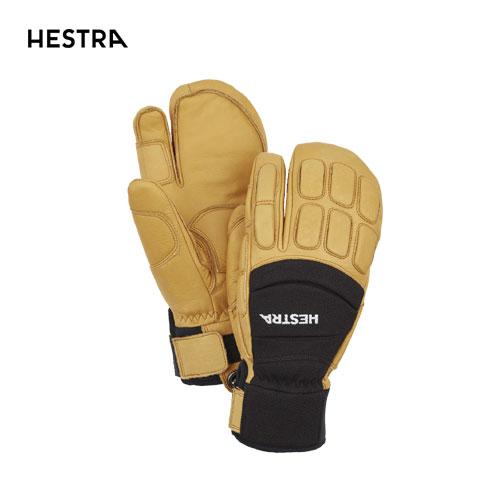 HESTRA ヘストラ 2020モデル Vertical Cut CZone 3-Finger 30192 スリーフィンガー 100701(Black/Tan) スキーグローブ スノーボード グローブ レザー