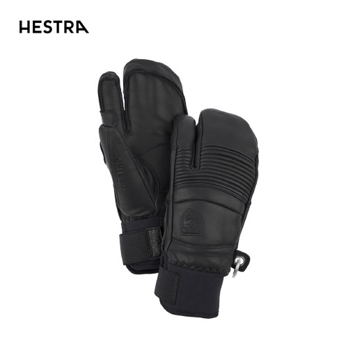 HESTRA ヘストラ 2020モデル Fall Line 3-Finger 31472 フォールライン スリーフィンガー 100(Black) スキーグローブ スノーボード グローブ レザー