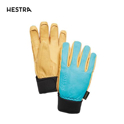 HESTRA ヘストラ 2020モデル Omni GTX Full Leather 31910 オムニゴアテックス 240700(Turquoise/Nt.Brown) スキーグローブ レザー GTX 5本指