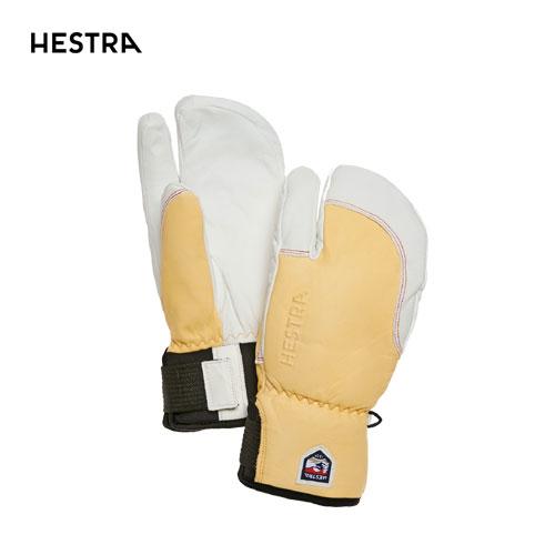 HESTRA ヘストラ 2020モデル 3-Finger Full Leather Short 33872 スリーフィンガーフルレザーショート 700020(Nt.Brown/Off White) スキーグローブ スノーボード