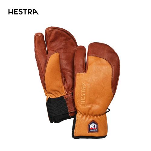 HESTRA ヘストラ 2020モデル 3-Finger Full Leather Short 33872 スリーフィンガーフルレザーショート 710750(Cork/Brown) スキーグローブ スノーボード