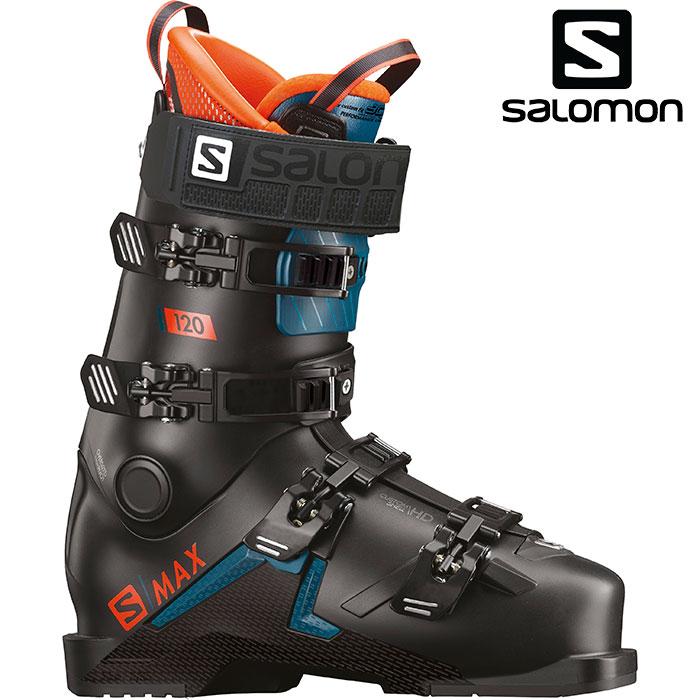 SALOMON サロモン 19-20 スキーブーツ S/MAX120 エスマックス 120〔2020 スキーブーツ DEMO 基礎スキー エキスパート〕 (Black-Orange):L40547600
