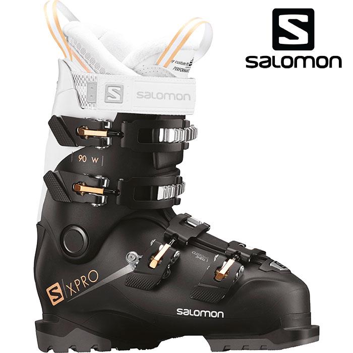 SALOMON サロモン 18-19 スキーブーツ X PRO 90 W エックスプロ90 W〔2019 オールラウンドモデル 上級者 女性用〕 (Black-White-Corai):L40551700 「0604BOOT」