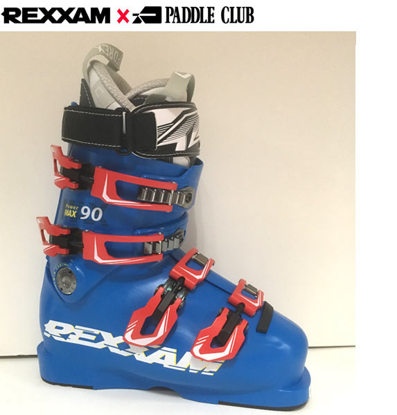 18-19 REXXAM レクザム スキーブーツ Power MAX-90 パワーマックス90(CX-SSインナー)〔2019 中級者モデル 基礎スキー オールランド 〕 (BLUE):X7JM-725P 「0604BOOT」
