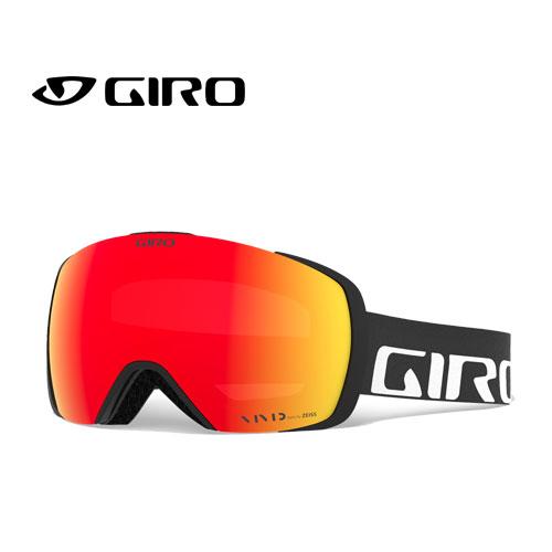 GIRO ジロー 19-20 ゴーグル 2020 CONTACT BLACK WORDMARK コンタクト スキーゴーグル メンズ 球面 Vividレンズ:7083157