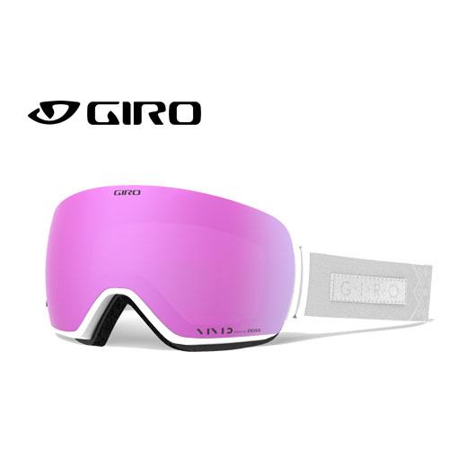 GIRO ジロー 19-20 ゴーグル 2020 LUSI WHITE VELVET ルーシー スキーゴーグル レディース 球面 Vividレンズ 眼鏡対応:7095164