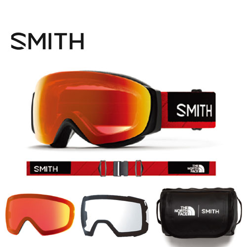 SMITH スミス 19-20 ゴーグル 2020 I/O MAG S TNF Red アイオーマグエス スキーゴーグル 球面 クロマポップ 調光:010260003