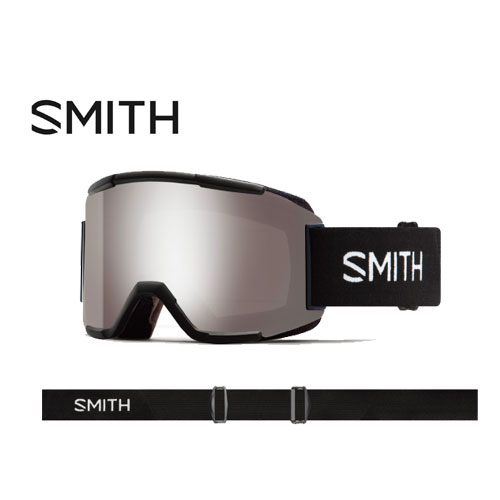 SMITH スミス 19-20 ゴーグル 2020 Squad Black スカッド スキーゴーグル 平面 クロマポップ 全天候対応:010260120