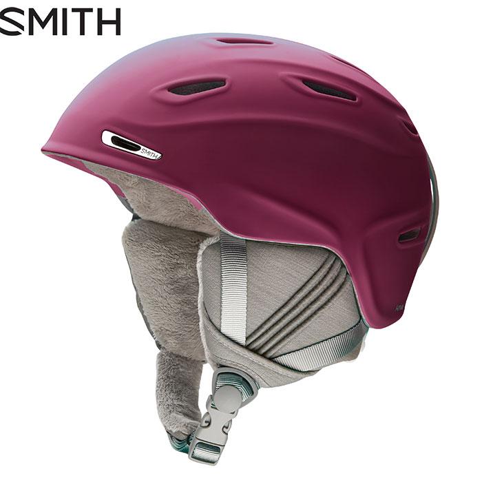 SMITH スミス Arrival〔女性用 スキー用 ヘルメット 2017/2018〕 (MatteGrape):01025135 「0604hel」