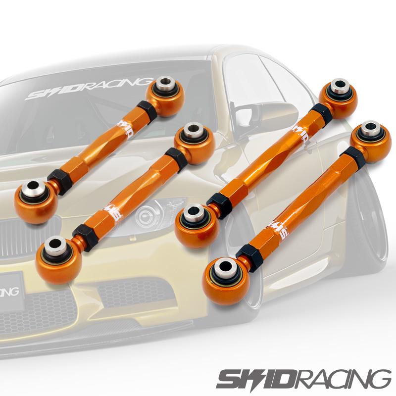 車検OK E87 E90 キャンバーアーム セット 調整式 リア ピロ E81 E82 E88 E91 E92 E93 116i 118i 120i 130i SKID RACING スキッドレーシング set