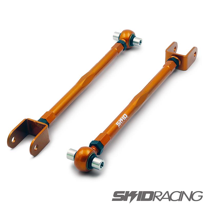 車検OK Y51 フーガ V37 スカイライン トーコントロール ロアアーム スキッドレーシング リア 調整式 ピロ 一体型車高調用 skid racing #