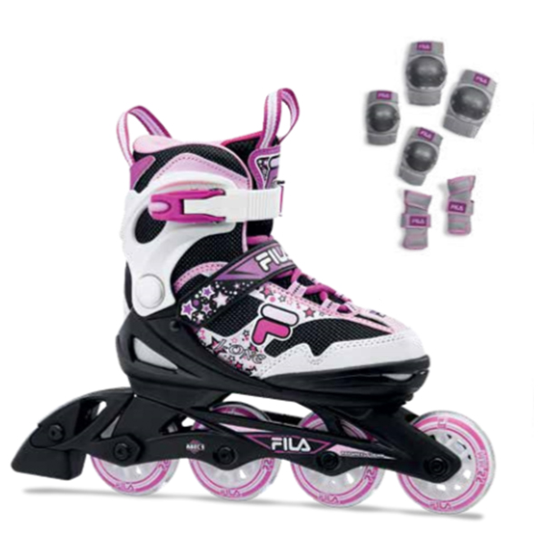 5月10日まで限定特価+ポイント10倍!20 FILA フィラジュニア インラインスケート J-ONE COMBO GIRL 2 SET