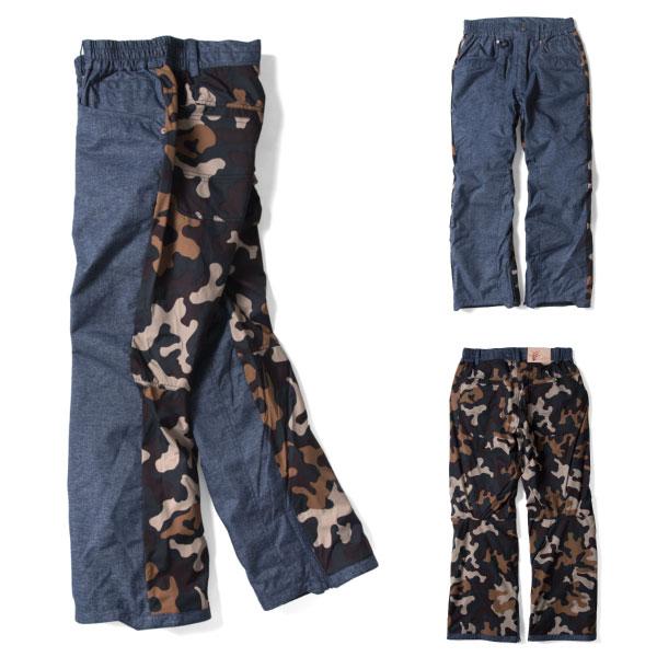 8月20日まで5万円以上の注文でクーポン利用で超お買い得!19-20Vereight ヴェレイトMountain Pants VE-502マウンテンパンツDENIMxCAMO デニムxカモ