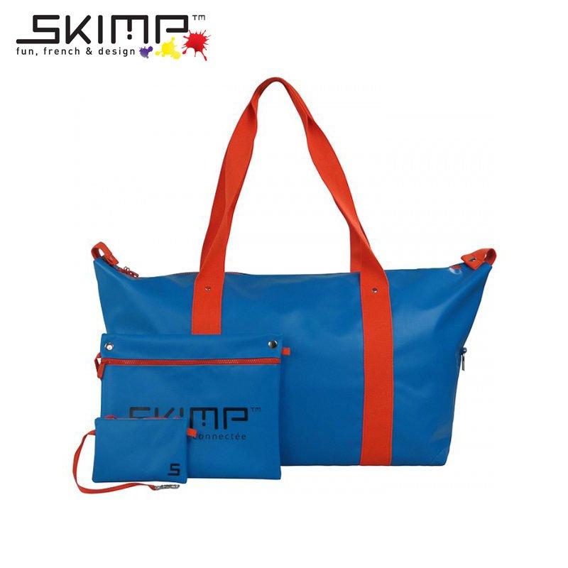 ボストンバッグ 大容量 作業着 ユニフォーム カメラスタンド 機材 テニスラケット 収納 旅行かばん スポーツ SKIMP Globe-trotter ブルー (水色 青)