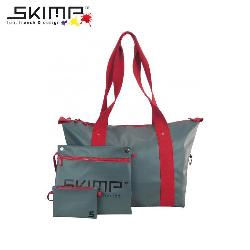 ボストンバッグ 大容量 作業着 ユニフォーム カメラスタンド 機材 テニスラケット 収納 旅行かばん スポーツ SKIMP Globe-trotter グレー